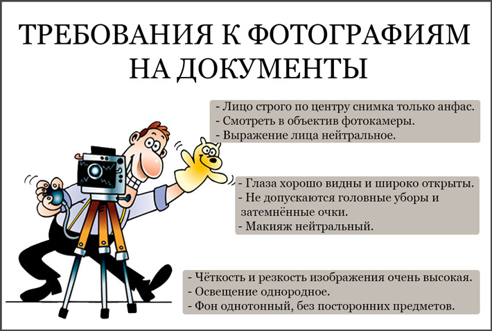 Как нужно фотографироваться на документы