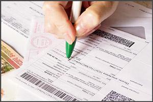 Заполнение бланка на пошлину за права