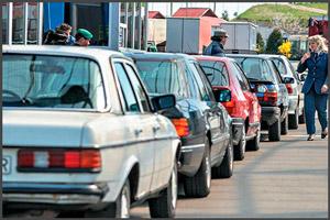 Пребывания транспортного средства на границе