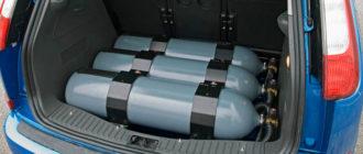 Безопасная перевозка баллонов с газом в автомобиле
