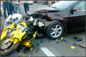 Авария на мотоцикле