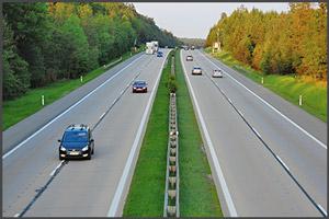 Полоса разделяющая потоки транспорта