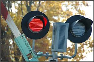 Светофор при железнодорожном переезде