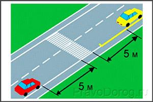 Остановка авто на расстоянии от перехода