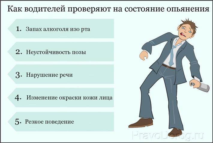 Проверка на состояние опьянения
