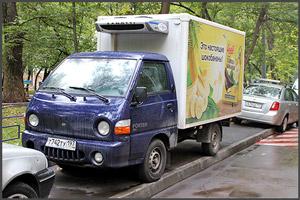 Неправильное паркование грузового авто