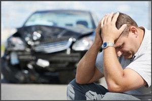 Авто разбитое в аварии
