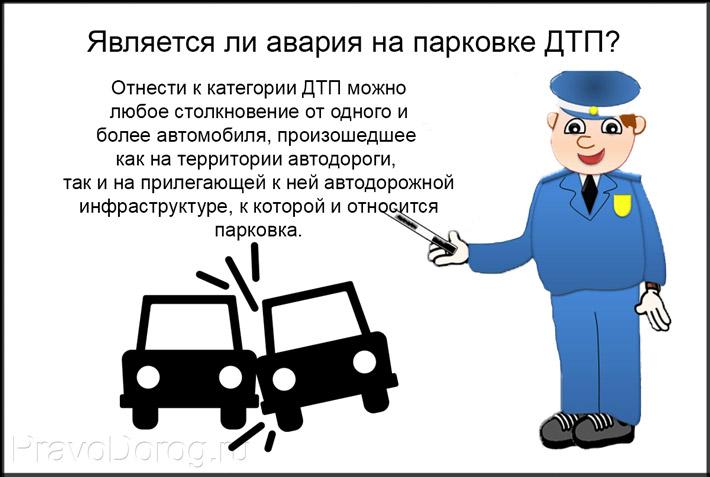 Характеристика аварии на парковке