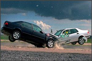Машины в момент аварии