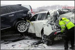 Несколько машин в аварии