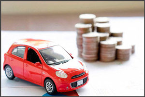 Красное авто и монеты