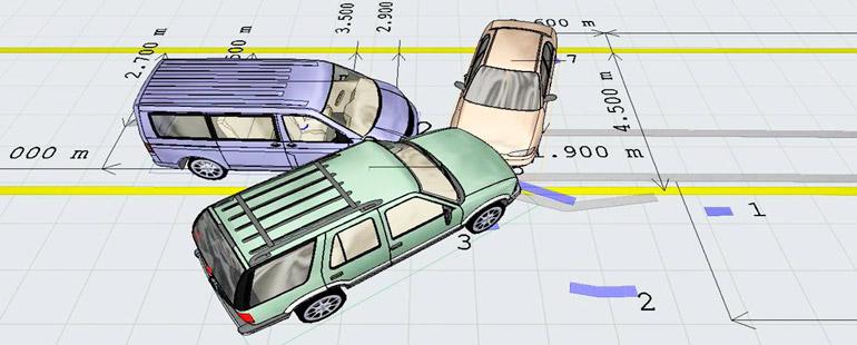 Как нарисовать на схеме дтп что автомобиль развернуло