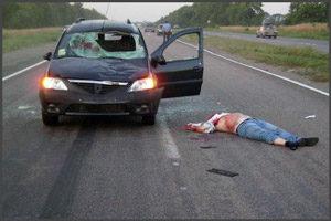 Погибший мужчина в ДТП