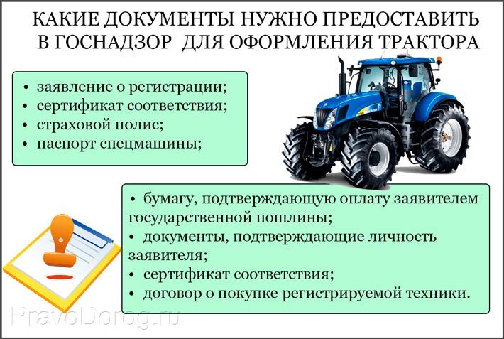 Оформление трактора